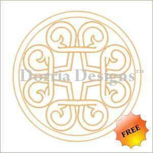 center embroidery design