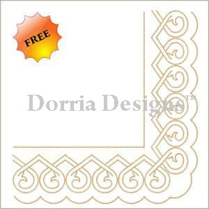 Free border embroidery design a