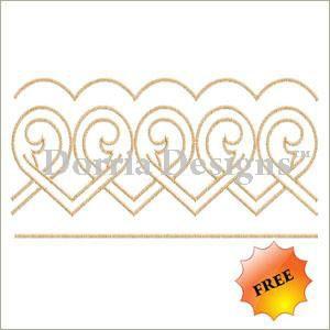 Free border embroidery design b