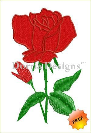 Free rose embroidery design