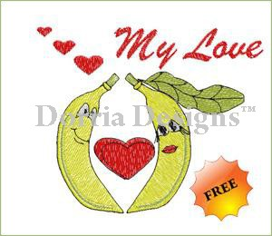 Free banana embroidery design