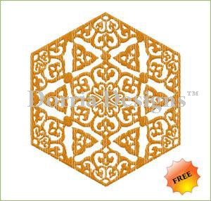 Free ornament deco embroidery design