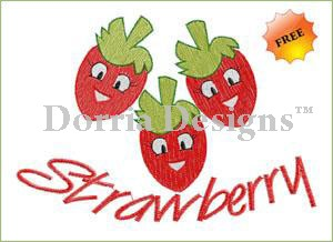 Strawberry embroidery design free 025