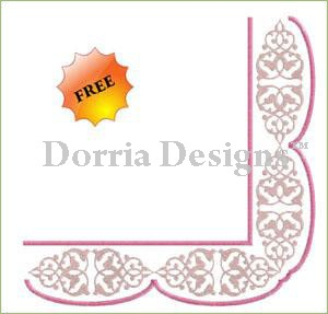 Freebie corner ornament embroidery design A