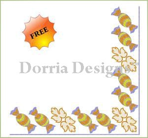Corner of sweet embroidery free design 029