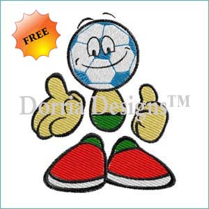 soccer ball machine embroidery design