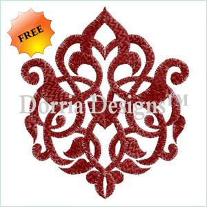 Free celtic floral embroidery design 339