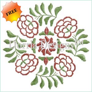 Free deco quilt embroidery design 338