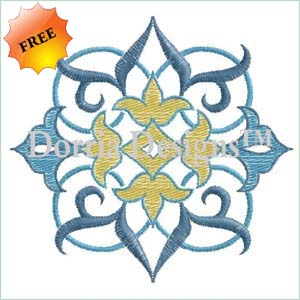 Free machine embroidery design 342