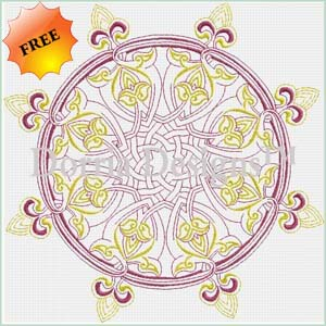 Redwork machine embroidery design 344