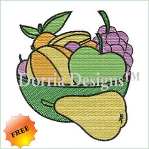 Free fruit embroidery design 345