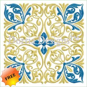 Freebie quilt block embroidery design