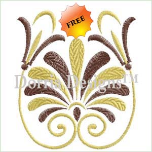 Free floral machine embroidery design 356
