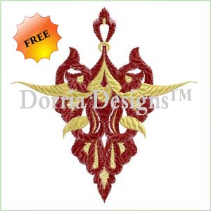 Ornament embroidery machine design