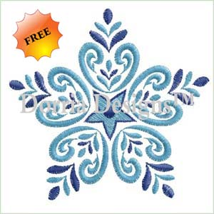 Free snowflake embroidery design 365