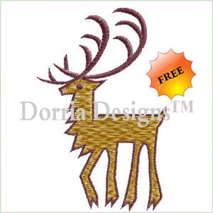Free reindeer machine embroidery design