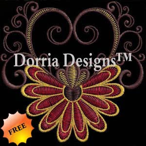 Free flower embroidery design