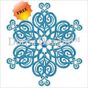 Free ornament embroidery design