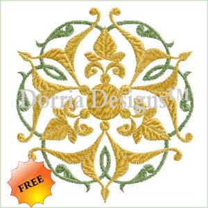 Free ornament embroidery design 383