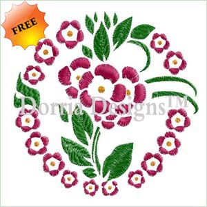 Free flowers embroidery design