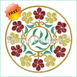 Free blossom embroidery design 391