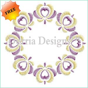 Free floral center embroidery design 392