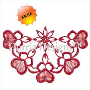 Free collar embroidery design