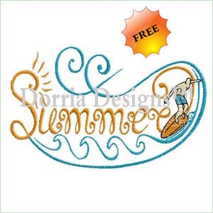 free summer embroidery design