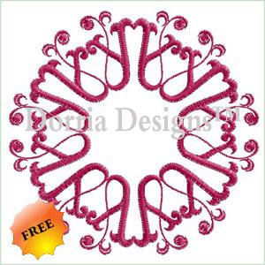 Ornament embroidery design 406