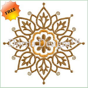 Ornament embroidery design 415