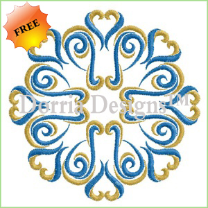 Ornament machine embroidery design