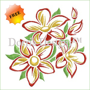 Flowers embroidery design 431