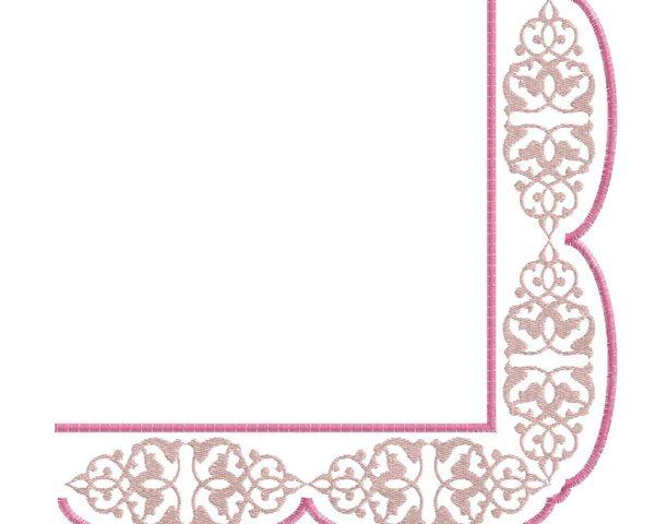 Freebie corner ornament embroidery design