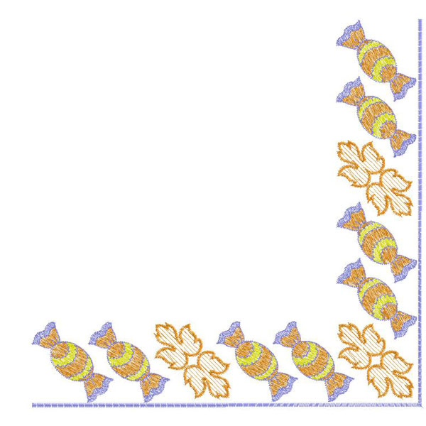 Corner of sweet embroidery free design