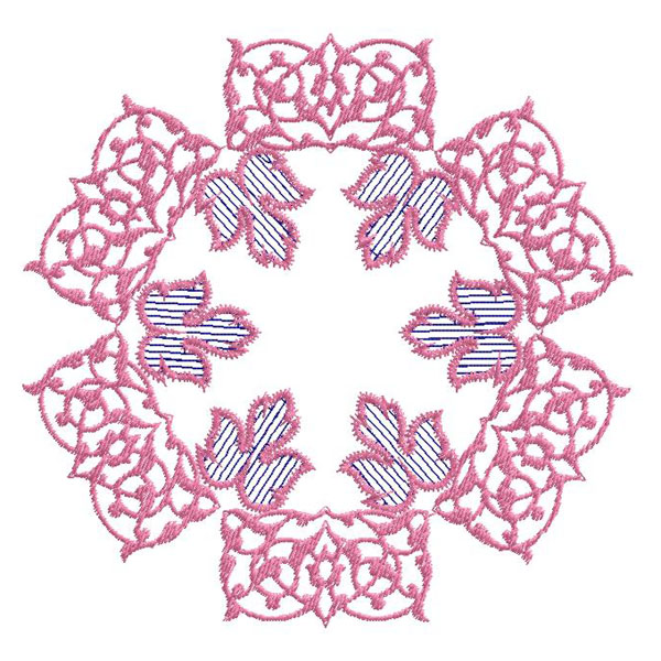 Ornament embroidery design