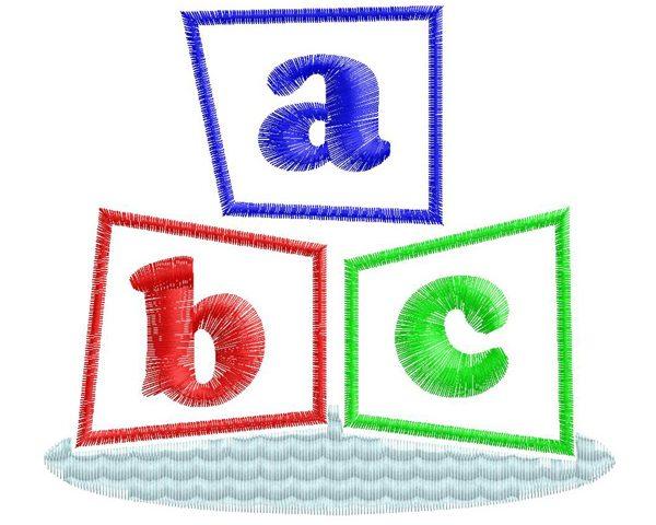 Free abc embroidery design