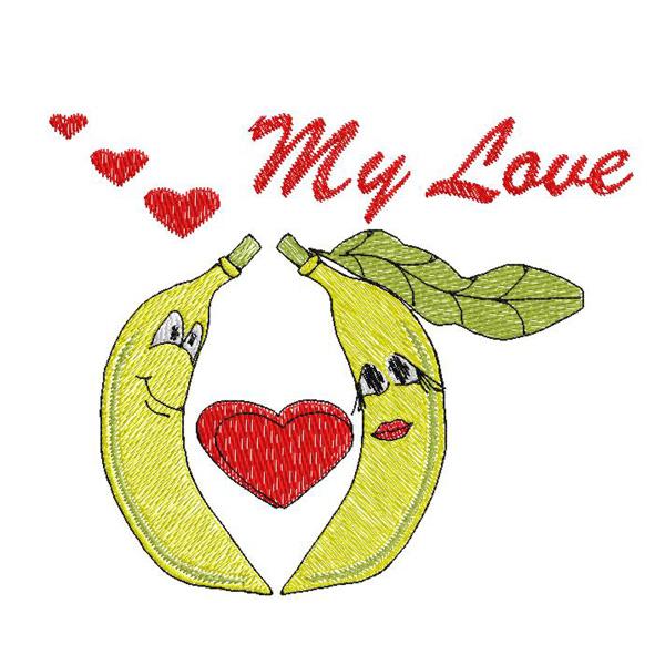 Free banana embroidery design