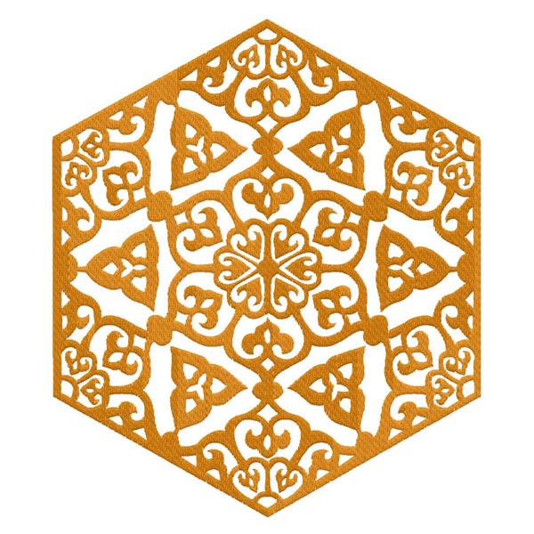 Free ornament deco embroidery design