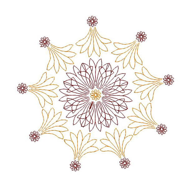 Free ornament embroidery design 005